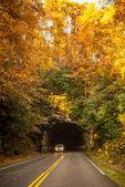 Blue ridge parkway tunnel — Foto Stock