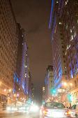 Night View of Street in Philadelphia — Stock Photo