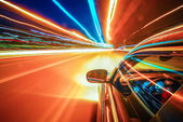 Travel at speed of light — Stock Photo