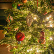 Christmas tree decorated in living room — Stock Photo #16207443