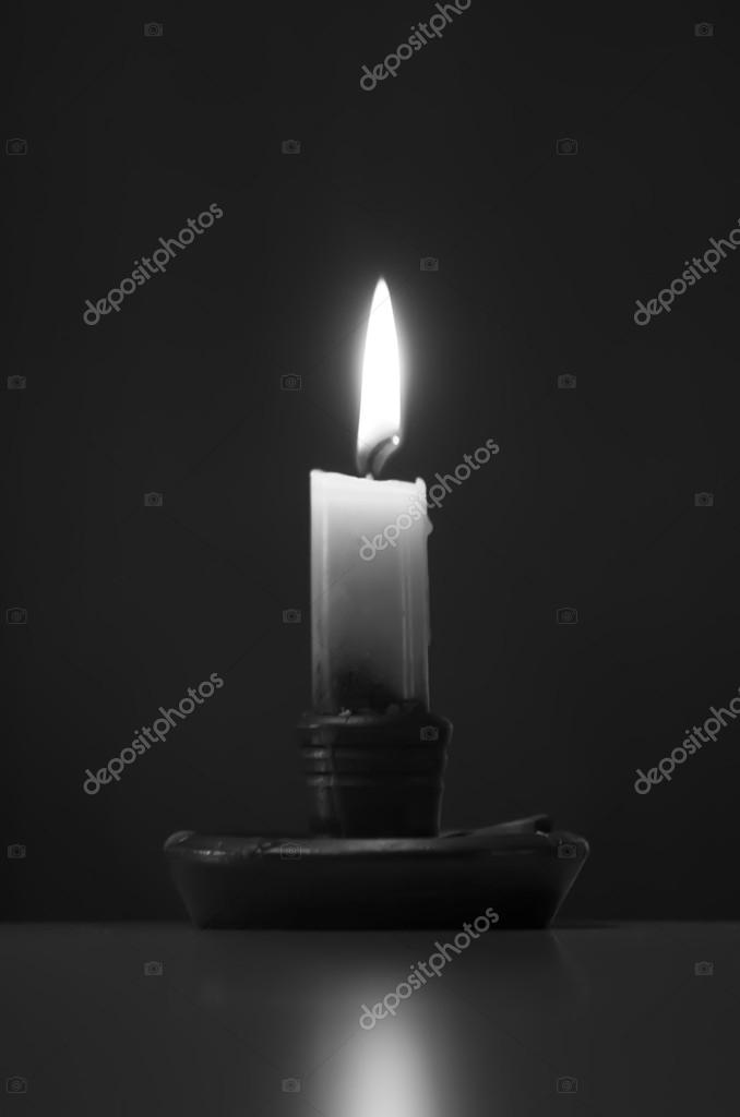 Candle on black background — Stock Photo #16932759