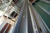 Construction metal stud wall — Stock Photo