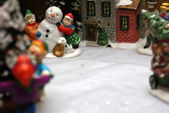Christmas toy village — Stock Photo