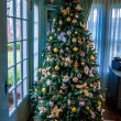Vintage christmas tree — Stock Photo