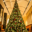 Stock Photo: Decorated christmas tree indoor