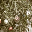 Stock Photo: Vintage decorated christmas tree
