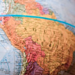Stock Photo: Part of globe with map of South America