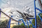 Jet plane rollercoaster — Stock Photo