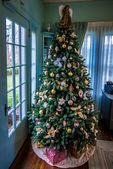 Vintage christmas tree — Stock Photo