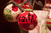 Faith christmas decorations — Stock Photo