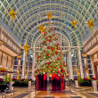 Image of big decorated Christmas tree in the mall — Stock Photo #18584371