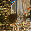 Skyline of uptown Charlotte, North Carolina at night. - ストック写真