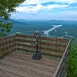 Stock Photo: Lake lure overlook