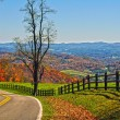 Blue ridge parkway virginia — Stock Photo
