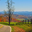 Stock Photo: Blue ridge parkway virginia
