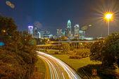 Trafik i en storstad — Stockfoto