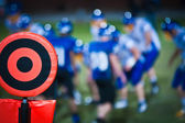 Football sideline marker — Stock Photo