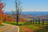 Blue ridge parkway virginia — Stockfoto
