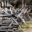 Old country village fence — Stock Photo