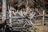 Gamla byn staket — Stockfoto