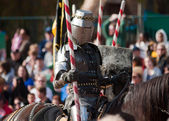 Armored joust knight — Stock Photo
