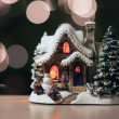 Christmas town toy — Stock Photo