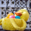 Stock Photo: Easter duck basket