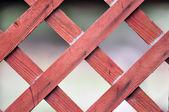 červená mříž plot detail — Stock fotografie