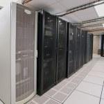 Modern interior of server room in datacenter — Stock Photo