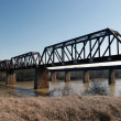 Stock Photo: Railroad bridge over river