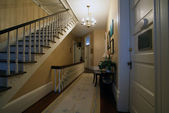 Staircase and a hallway inside historic house — Stock Photo