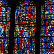 Stained Glass Window from National Cathedral - Stock Photo