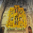 Interior of a national cathedral gothic classic architecture - Stock Photo