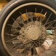 Civil warr solid rubber tire wheel on a war machine — Stock Photo