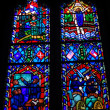 Stained Glass Window from National Cathedral — Stock Photo