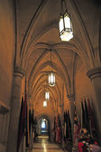 Interior of a national cathedral gothic classic architecture — Stock Photo