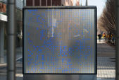 Digital street display board — 图库照片