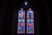 Vetrata dalla cattedrale nazionale — Foto Stock