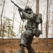 Military iron statue — Stock Photo