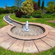 Fountain in botanical garden - Stock Photo
