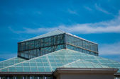 Mavi cam ve gökyüzü — Stok fotoğraf