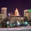 Providence, Rhode Island Skyline at night — Stock Photo