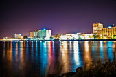 Wilmington Waterfront at night — Stock Photo