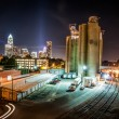 Charlotte City Skyline night scene - Stock fotografie