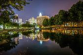 Charlotte City Skyline night scene — Stock Photo