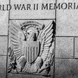 united states seal carved into stone at the world war two memori — Stock Photo