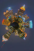 Atlanta skyline mini planet — Stock Photo