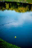 Fishing on a lake — Stock Photo