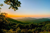 Blue ridge parkway early morning — Foto Stock