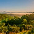 Blue ridge parkway early morning — Stock Photo